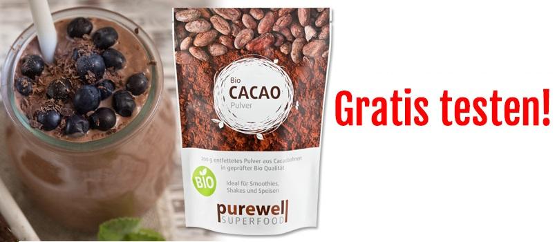 cacao superfood pulver gratis testen proben kostenlos gratisproben bestellen kostenlose. Black Bedroom Furniture Sets. Home Design Ideas